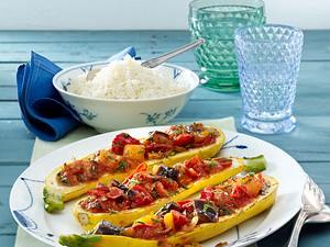 Gefüllte Zucchini mit Ratatouille Rezept