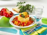 Gefüllte Zwiebeln mit Paprika-Kräuter-Kartoffelbrei Rezept