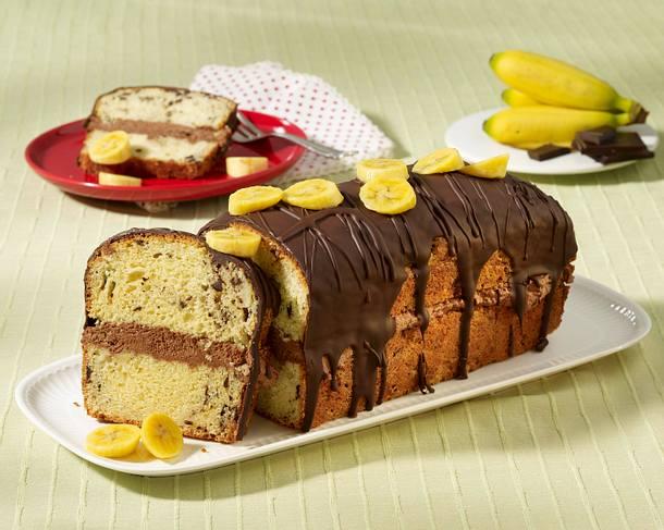Gefüllter Bananen-Kastenkuchen Rezept