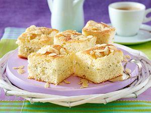 Gefüllter Butterkuchen mit Pudding-Mohncreme Rezept