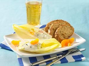 Gefüllter Chicorée mit Joghurt-Quark-Creme und Mandarinen Rezept