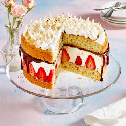Gefüllter Erdbeer-Rührkuchen Rezept
