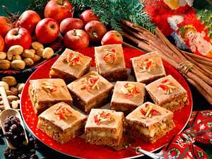 Gefüllter Lebkuchen mit Apfelkompott Rezept