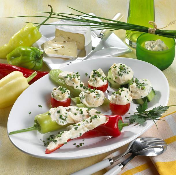 Gefülltes Gemüse mit Pfeffer-Obatzda Rezept
