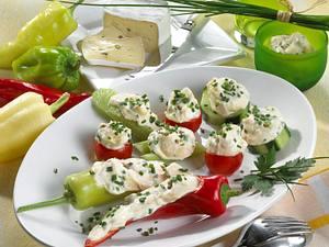 Gefülltes Gemüse mit Pfeffer-Obatzter Rezept
