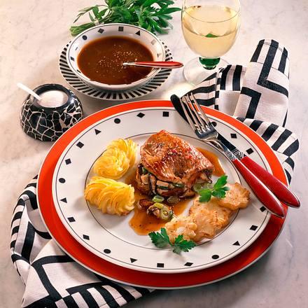 Gefülltes Kalbsschnitzel zu Noilly Prat-Soße Rezept
