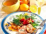 Gefülltes Schweinefilet zu Blattsalat Rezept