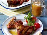 Gegrillte Chicken Wings in Tandoori-Marinade zu Orangen-Sherry-Soße Rezept