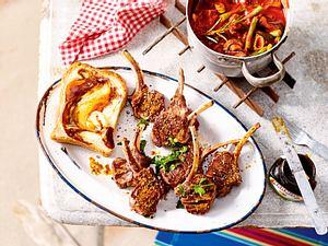 Gegrillte Lammkoteletts mit Schmorgemüse à la Cornwall Rezept