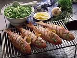 Gegrillte Rotbarben mit Knoblauch und Kräutern Rezept
