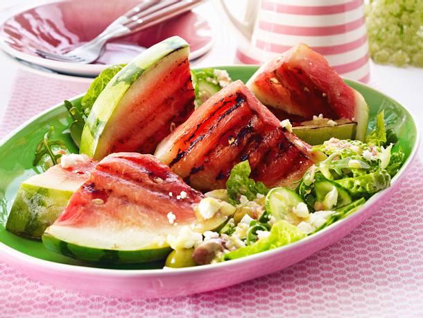 Gegrillte Wassermelone mit cremigem Feta Rezept