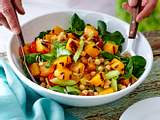 Gegrillter Butternusskürbis-Salat Rezept