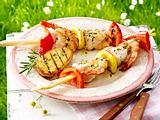 Gegrillter Garnelen-Fisch-Spieß Rezept