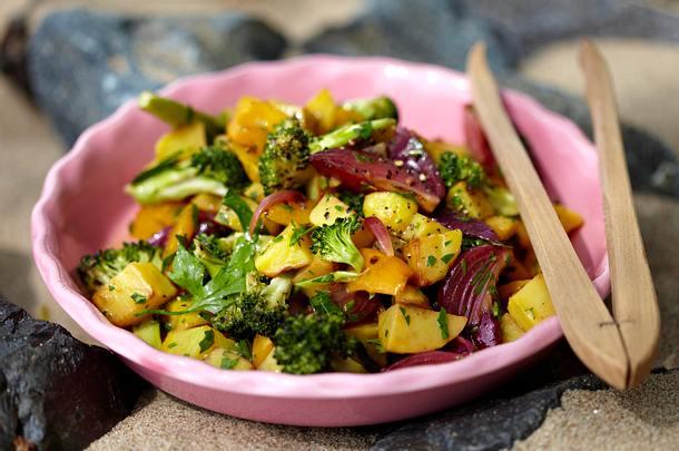 Gegrillter Gemüse-Salat Rezept
