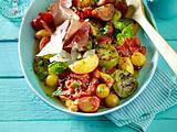 Gegrillter Tomaten-Pfirsich-Salat Rezept