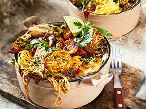 """Gekräutertes Spaghetti-Gratin """"Für eine Gabel voll Lime Chicken"""" Rezept"""