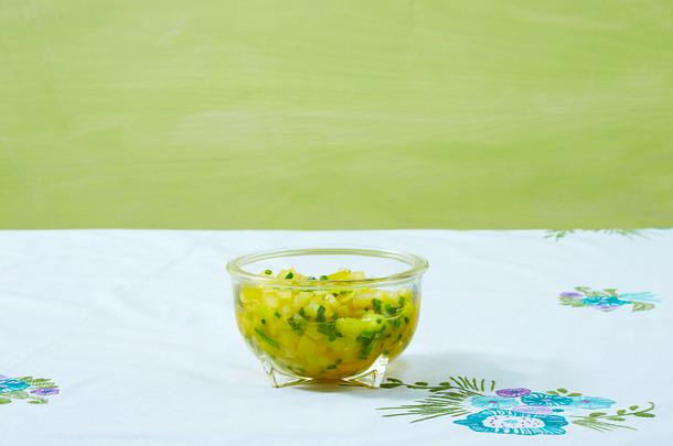 Gelbe Tomatensalsa Rezept