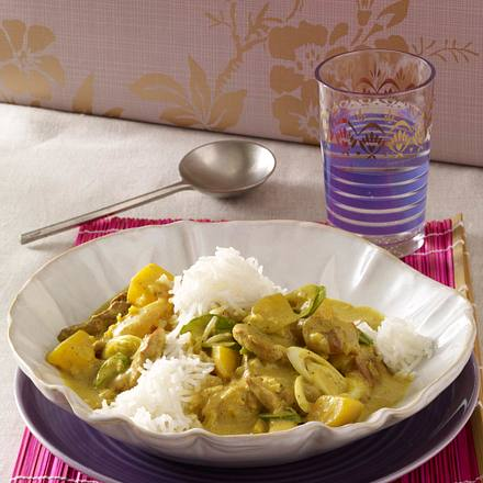 Gelbes Schweinefleisch-Curry Rezept