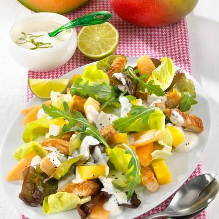 Gemischter Blattsalat mit Früchten Rezept