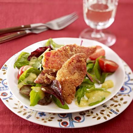 Gemischter Salat mit Schinkenchips Rezept
