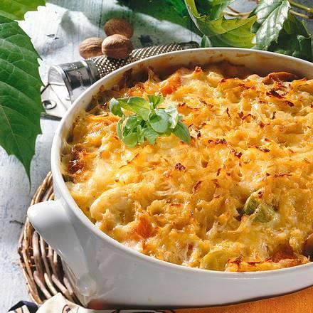 Gemüse-Auflauf mit Kartoffelkruste Rezept
