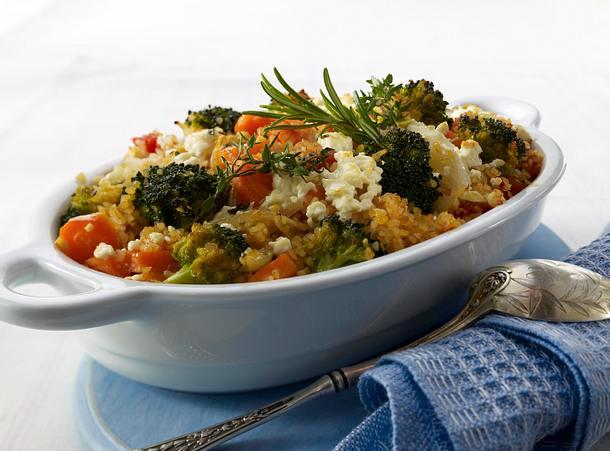 Gemüse-Bulgur-Auflauf Rezept