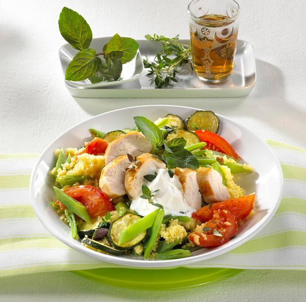 Gemüse-Couscous mit Hähnchenfilet Rezept