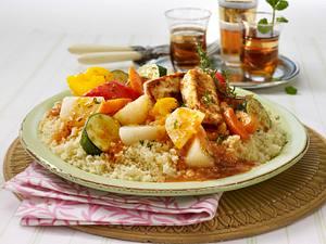 Gemüse-Couscous mit Schafskäse Rezept