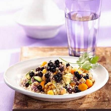 Gemüse-Couscous mit wilden Blaubeeren Rezept