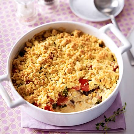 Gemüse-Crumble mit Ziegenkäse Rezept