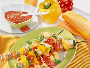 Gemüse-Curry-Schaschlik Rezept