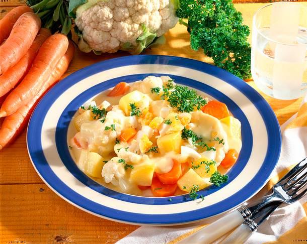 Gemüse-Ei-Ragout Rezept