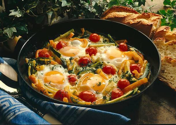 Gemüse-Eierpfanne Rezept