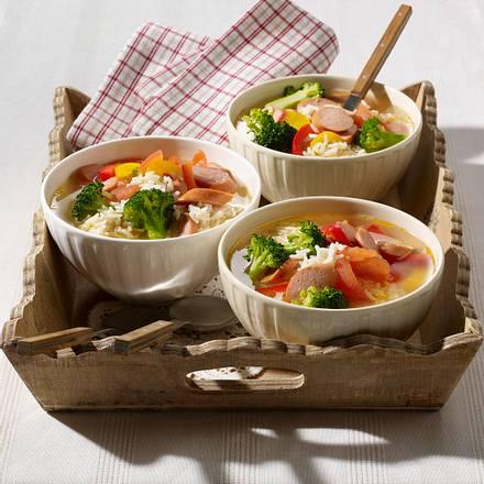 Gemüse-Eintopf mit Würstchen Rezept