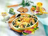 Gemüse-Gratin mit Käsesoße und Zwieback-Kuste Rezept