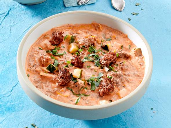 Gemüse-Hack-Suppe Rezept