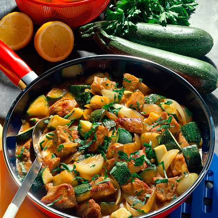 Gemüse- Kalbsgulasch Rezept