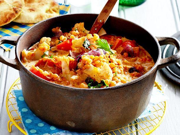 Gemüse-Linsen-Curry Rezept