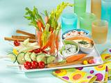 Gemüse mit Dip Rezept