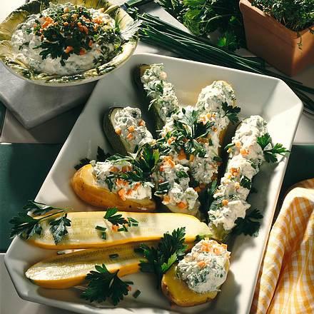 Gemüse mit Kräuter-Quark Rezept