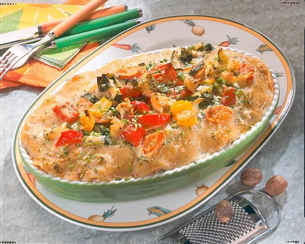 Gemüse-Nudel-Auflauf mit Salami Rezept