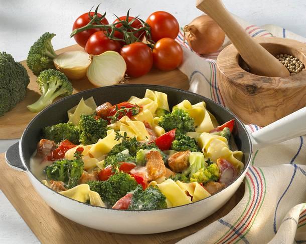 Gemüse-Nudel-Pfanne Rezept