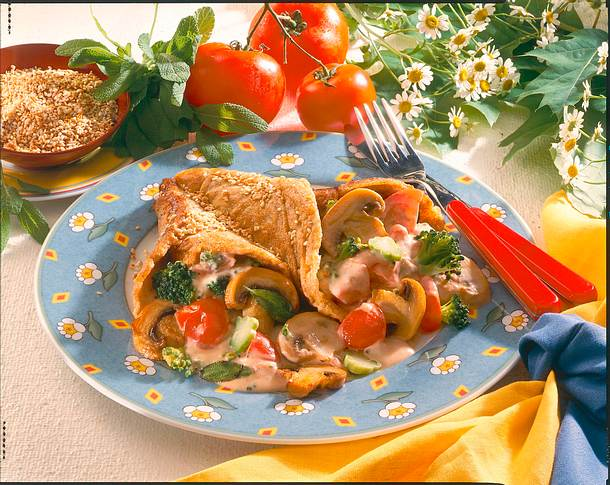 Gemüse-Pfannkuchen Rezept