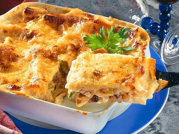 Gemüse-Pilz-Lasagne Rezept