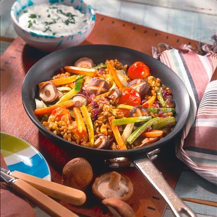 Gemüse-Pilzpfanne Rezept