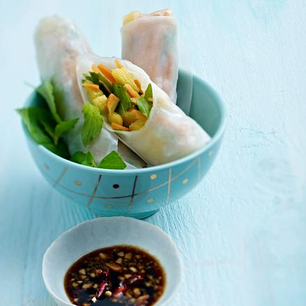 Gemüse-Rolls mit Mango Rezept