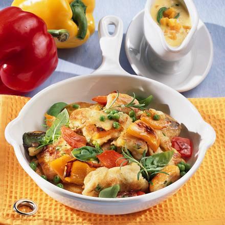 Gemüse-Schmarren mit Möhrensoße Rezept