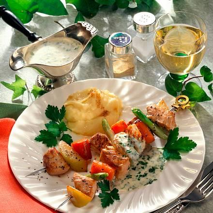 Gemüse-Schnitzel-Spieße Rezept
