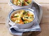 Gemüse-Schupfnudel-Auflauf mit Schinken Rezept