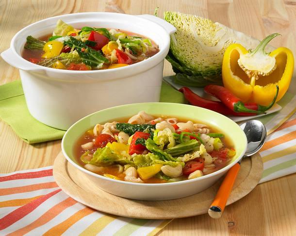 Gemüse-Tomaten-Suppe Rezept